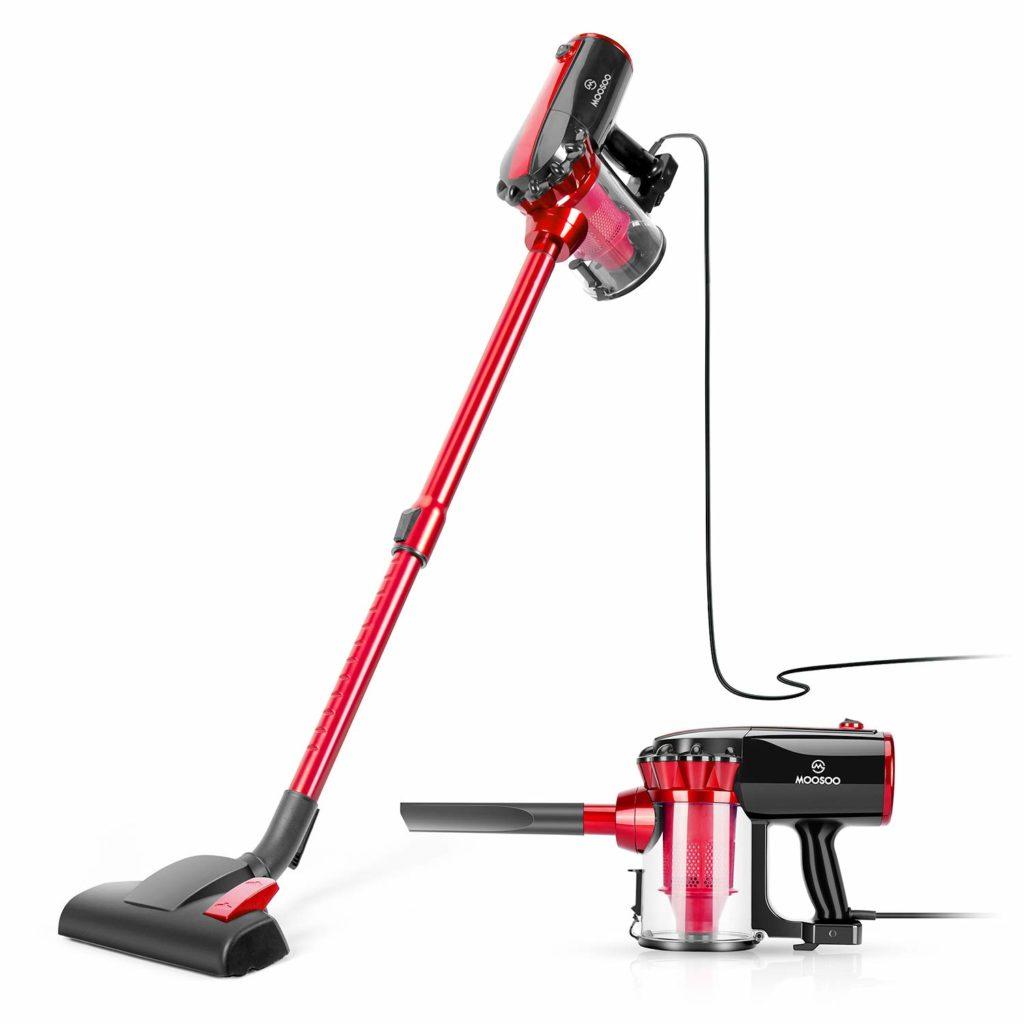 MOOSOO Vacuum Cleaner Corded Stick